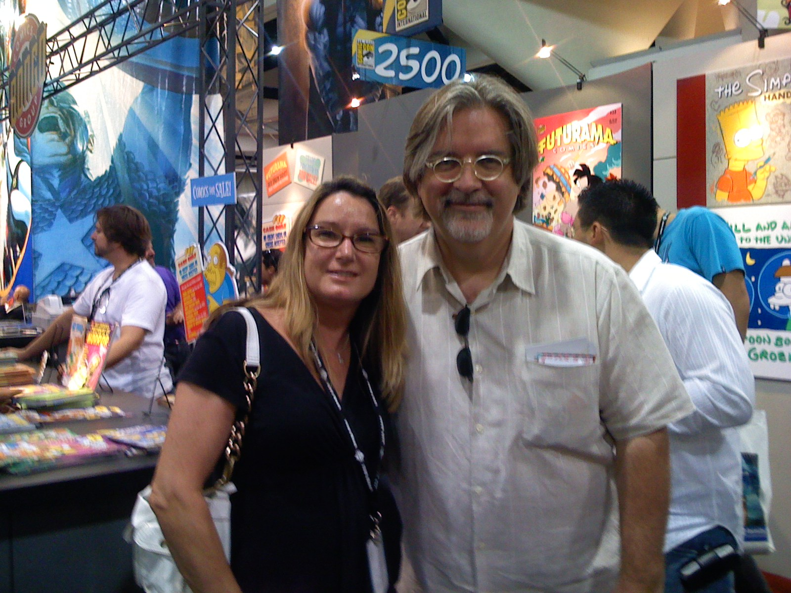 Gillian and Matt Groening (The Simpson's) at COMICON