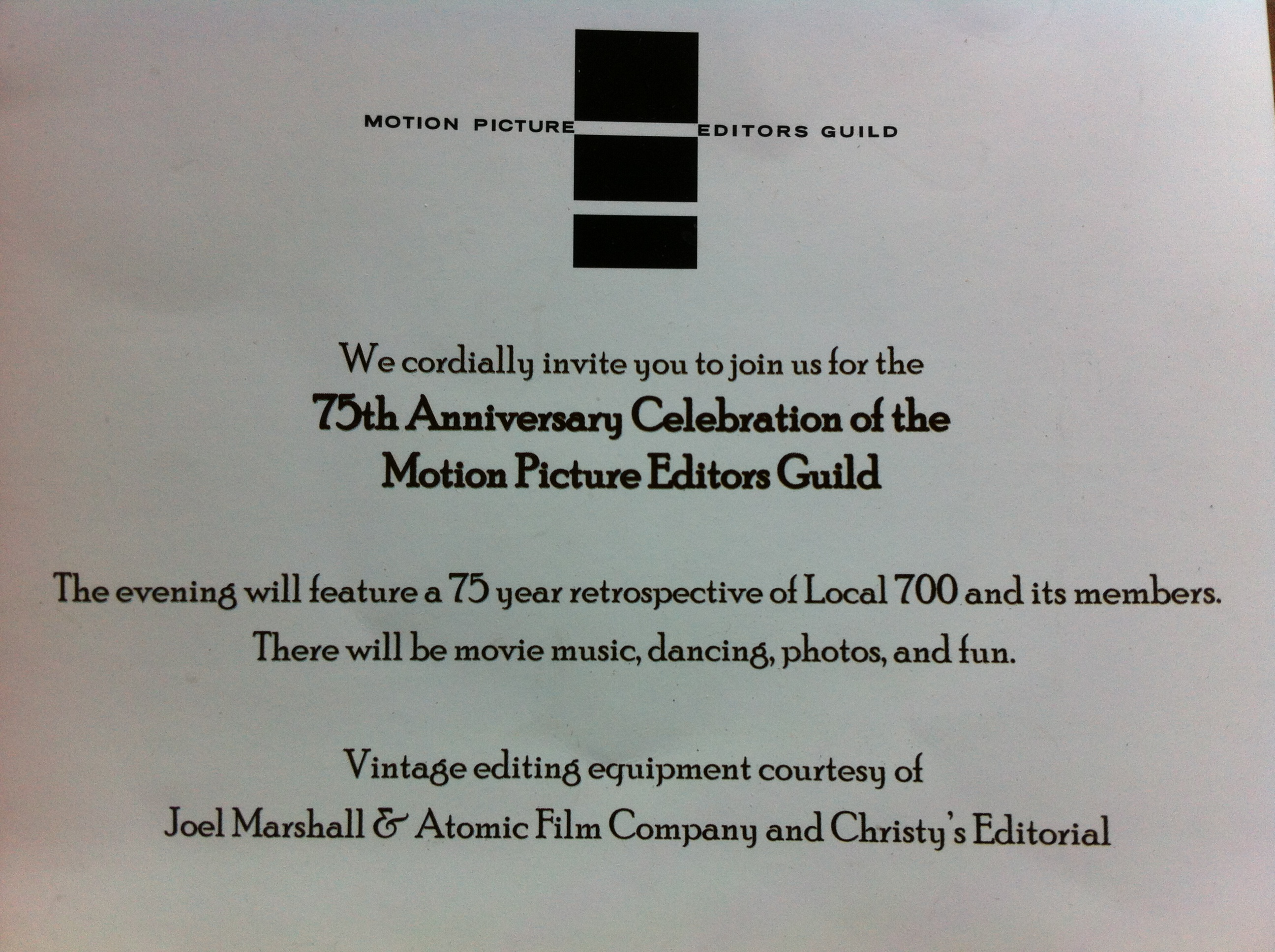 Motion Picture Editors Guild 75th, Annual Gala 2012